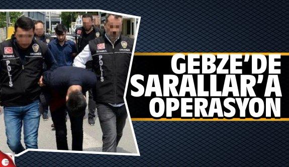 Gebze'de Sarallar'a operasyon: 17 gözaltı
