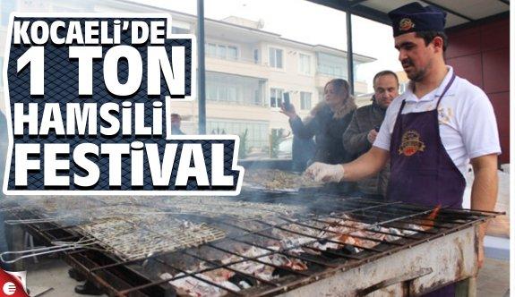Kocaeli'de 1 ton hamsili festival
