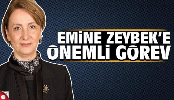 Emine Zeybek'e önemli görev