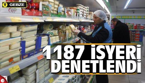 Gebze'de 1187 iş yerini denetledi