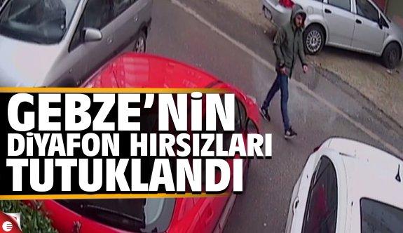 Gebze'nin diyafon hırsızları tutuklandı