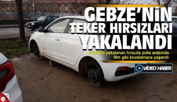 Gebze'nin teker hırsızları yakalandı