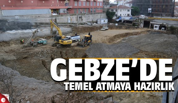 Gebze'nin 7 katlı otoparkı temel atıma hazırlanıyor