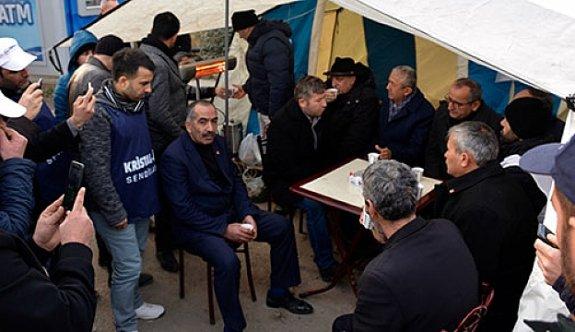 İzocam işçilerine CHP'den destek geldi