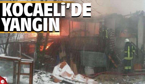 Kocaeli'de ahşap ev yangını