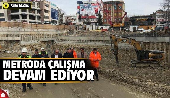 Gebze Metro inşaatı aralıksız çalışıyor
