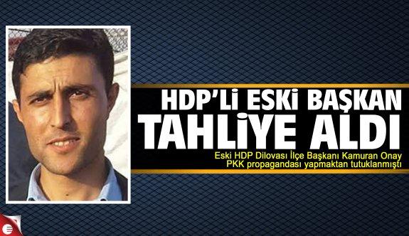 HDP'li eski başkan tahliye oldu