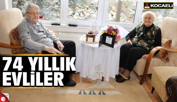 Kibaroğlu çifti 74 Yıllık evli