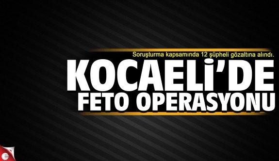 Kocaeli'de FETÖ operasyonu: 12 gözaltı