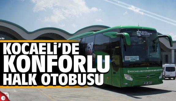 Kocaeli'de konforlu halk otobüsü