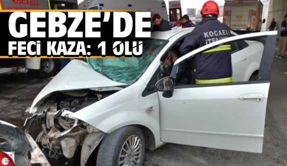 Gebze'de Trafik Kazası: 1 Ölü, 1 Yaralı