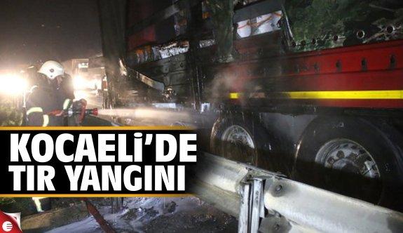 Kocaeli'de tır yangını