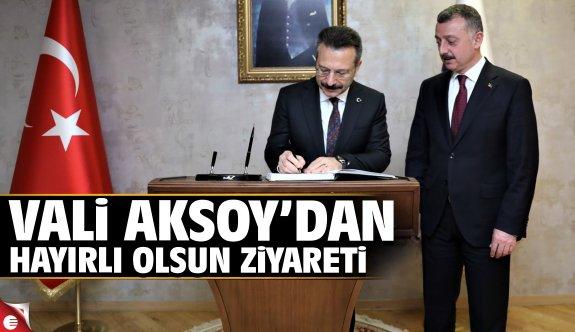 Vali Aksoy'dan Başkan Büyükakın'a iadeiziyaret