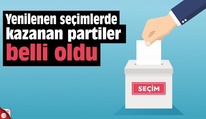 Yenilenen seçimlerde kazanan partiler belli oldu