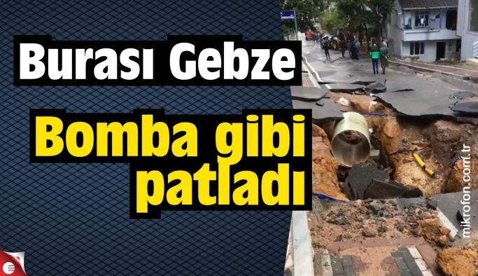 Gebze'de borular bomba gibi patladı