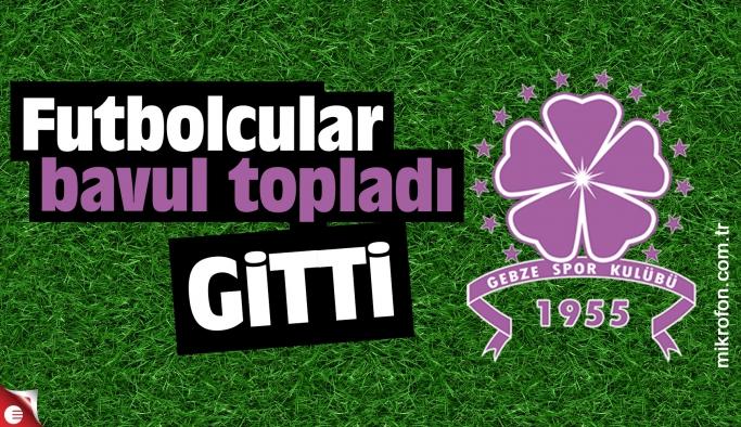 Gebzesporlu futbolcular kulübü terk etti