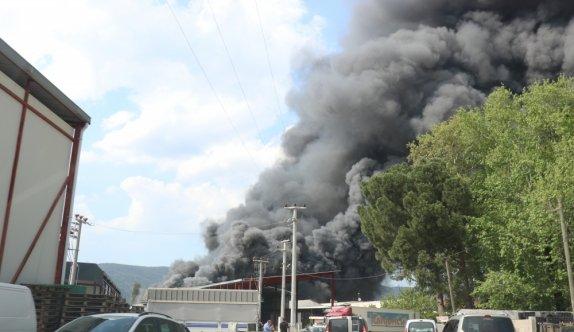 Bursa'da soğuk hava deposunda çıkan yangın kontrol altına alındı