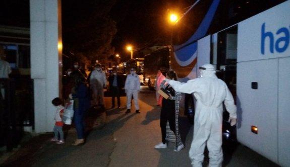Suudi Arabistan'dan getirilen 252 Türk vatandaş yurtlara yerleştirildi