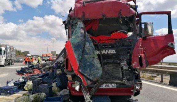 Gebze'de tır kazası: 1 yaralı