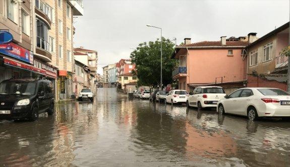 Edirne'de kuvvetli sağanak