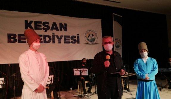 Edirne'de semazenler maske takarak gösteri sundu