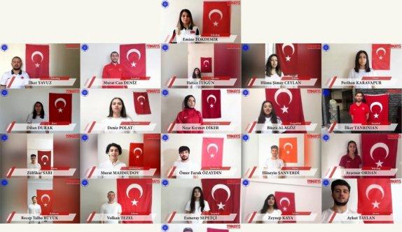"""""""Evde kalan"""" üniversite öğrencileri 19 Mayıs'ı hazırladıkları videoyla kutladı"""