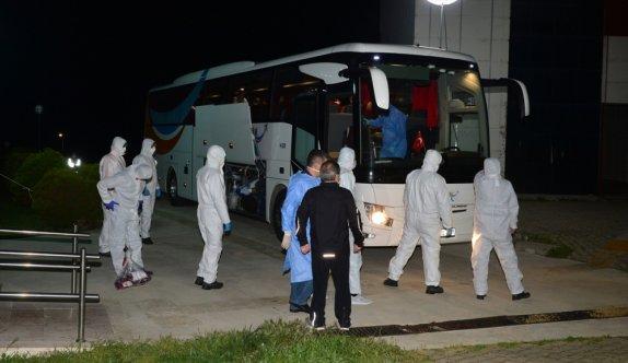 Kuveyt'ten getirilen 99 Türk vatandaşı Çanakkale'de yurda yerleştirildi