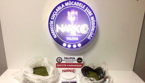 Yalova'da uyuşturucu satma hazırlığındaki iki şüpheli yakalandı