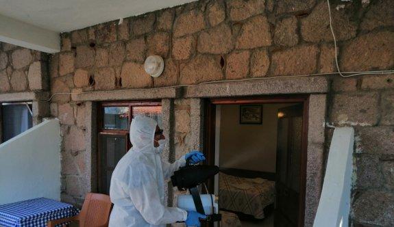 Assos'taki turistik tesisler sezona sosyal mesafe ve hijyen tedbirleriyle başladı