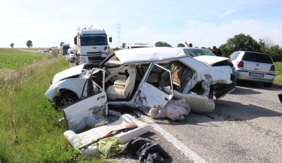 Kırklareli'nde trafik kazası: 3 yaralı