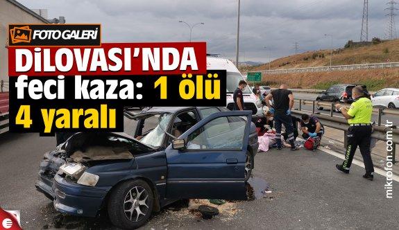 Dilovası'nda otomobil kamyona çarptı: 1 ölü, 4 yaralı