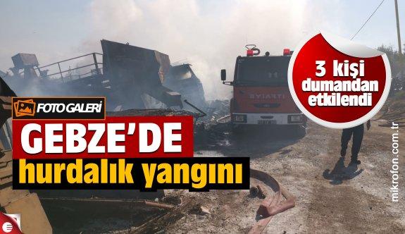 Gebze'de makilik alanda çıkan yangında 3 kişi dumandan etkilendi