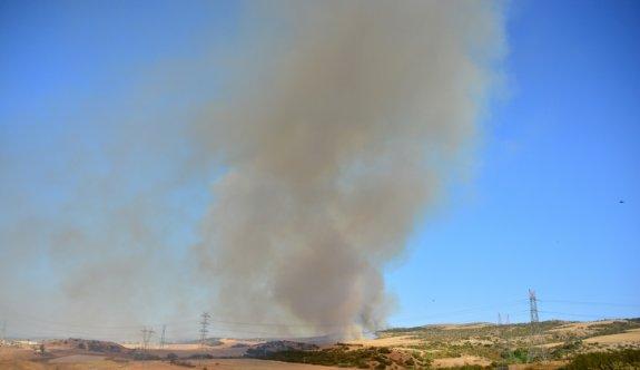 Çanakkale'de orman yangınına müdahale ediliyor
