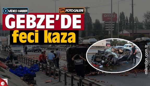 Kocaeli'de kamyonla otomobil çarpıştı: 2 yaralı