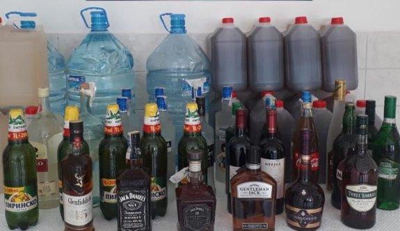 Tekirdağ'da 751 litre sahte ve kaçak içki ele geçirildi