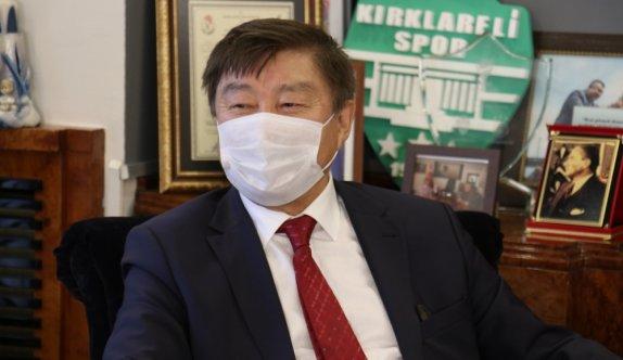 TÜRKSOY Genel Sekreteri Düsen Kaseinov, Kırklareli'nde ziyaretlerde bulundu: