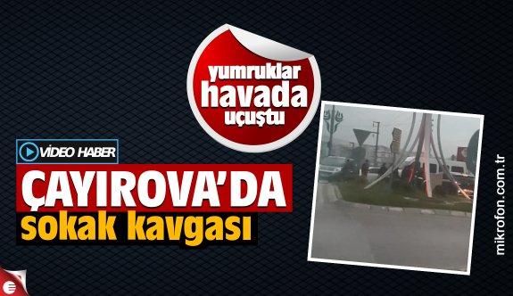 Çayırova'da trafik kavgası kameralara yansıdı
