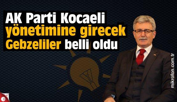 AK Parti Kocaeli yönetimine giren Gebzeliler