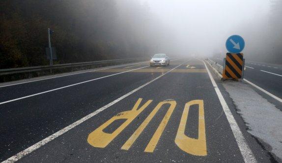 Bolu ve Sakarya'da sis etkili oluyor