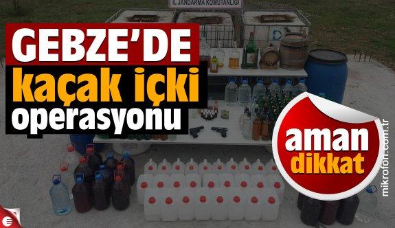 Gebze'de kaçak içki operasyonu: 3 gözaltı