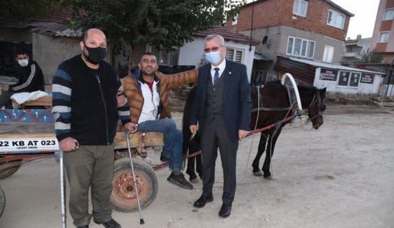 Keşan'da at arabasını getiren yük taşıyıcılarına ücretsiz triportör verilecek