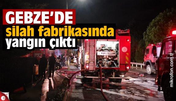 Kocaeli'de silah fabrikasında çıkan yangına müdahale ediliyor