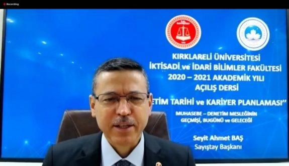 Sayıştay Başkanı Baş, KLÜ İktisadi ve İdari Bilimler Fakültesi Akademik Yılı açılış dersine katıldı