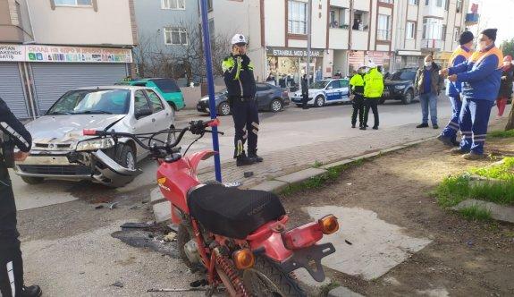 Edirne'de otomobille motosiklet çarpıştı: 1 yaralı