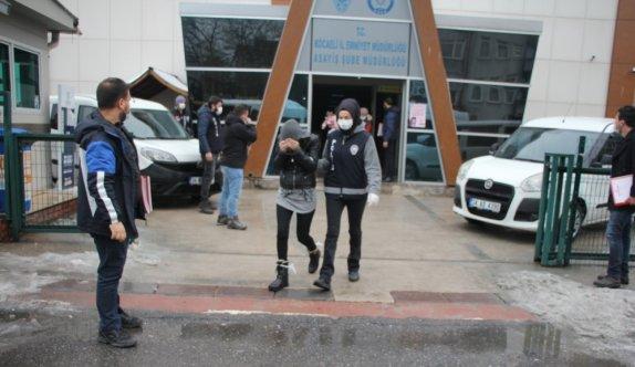 GÜNCELLEME - Kocaeli merkezli hırsızlık operasyonunda yakalanan 20 şüpheliden 11'i tutuklandı
