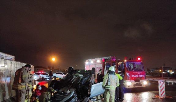 İstanbul'da kaza yapan alkollü sürücünün 3 çocuğu ve eşi yaralandı