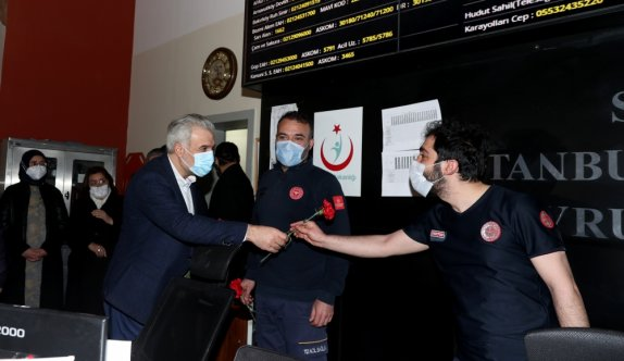 AK Parti İstanbul İl Başkanı Kabaktepe, 112 Komuta Kontrol Merkezini ziyaret etti: