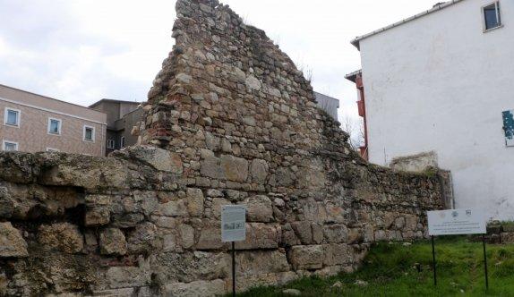 Edirne'de Hadrianapolis Antik Kenti sur duvarlarının ortaya çıktığı alan  tescillendi