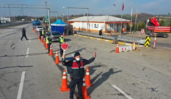 Edirne'de jandarma tarafından son iki ayda 35 bini aşkın araç kontrol edildi