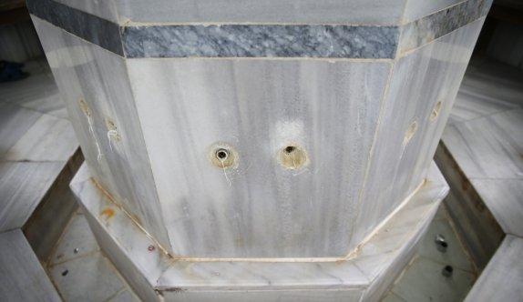 Kırklareli'nde cami şadırvanlarındaki muslukların çalınması güvenlik kamerasına yansıdı